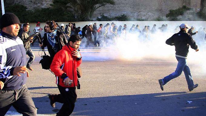 Die Proteste in Tunesien entzündeten sich auch an den hohen Lebensmittelpreisen.
