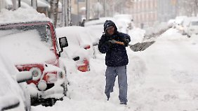 Die amerikanische Ostküste wird regelmäßig von Schneestürmen heimgesucht. So auch New York vor knapp einem Jahr. (Aufnahme aus Brooklyn)