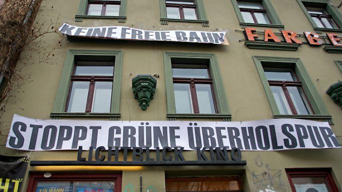 Gegen die Umbaupläne der Grünen: die Anwohner der Berliner Kastanienallee.