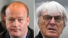 Gerhard Gribkowsky (l) hat ausgesagt - jetzt wird es eng für Bernie Ecclestone.