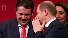 Die Frage ist nur, wie: SPD-Chef Gabriel (links) und Spitzenkandidat Scholz sind siegessicher.