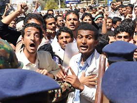 Auch in Jemens Hauptstadt Sanaa kam es wieder zu Protesten.
