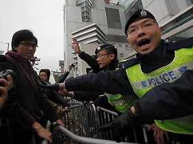 Proteste auch in Hongkong.