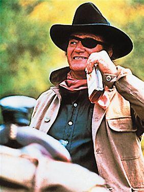 Augenklappe links: John Wayne als Marshal im Film von Henry Hathaway.