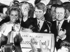 Kennedy hatte zuvor die Vorwahlen in Kalifornien gewonnen.