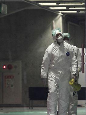 Schutzanzüge helfen nicht gegen Strahlung.