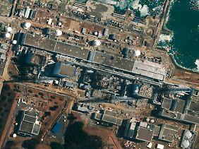 Eine aktuelle Luftaufnahme zeigt die zerstörten Blöcke.