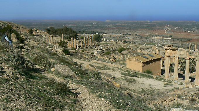 Die Ruinen des Tempel des Apollo in Kyrene.