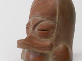 Ein Kopfgefäß, ebenfalls aus der Moche-Kultur.