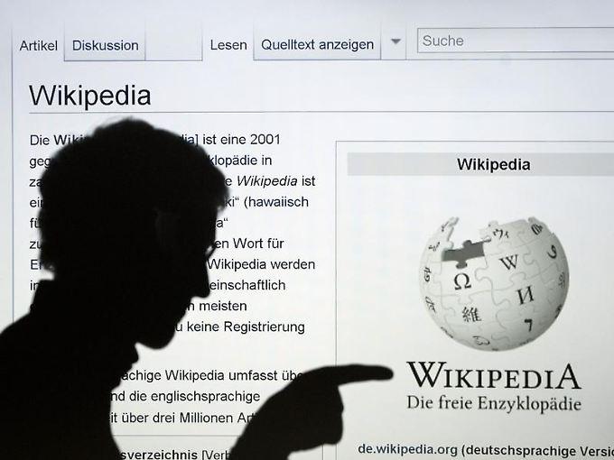 Größte Sammlung freien Wissens auf der Erde: die Online-Enzyklopädie Wikipedia.