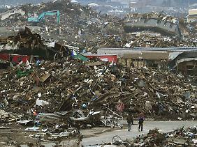 Noch immer ist die Stadt Sendai voller Trümmer.