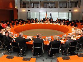 Die Atomrunde mit den Ministerpräsidenten der Bundesländer im Kanzleramt.