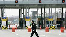 Die innerkoreanische Grenze in Kaesong