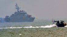 Die südkoreanische Armee - hier Schiffe der Marine und der Küstenwache - befindet sich in erhöhter Alarmbereitschaft.