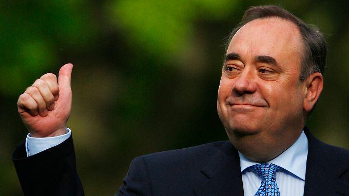 Alex Salmond und seine SNP haben im schottischen Parlament die absolute Mehrheit.