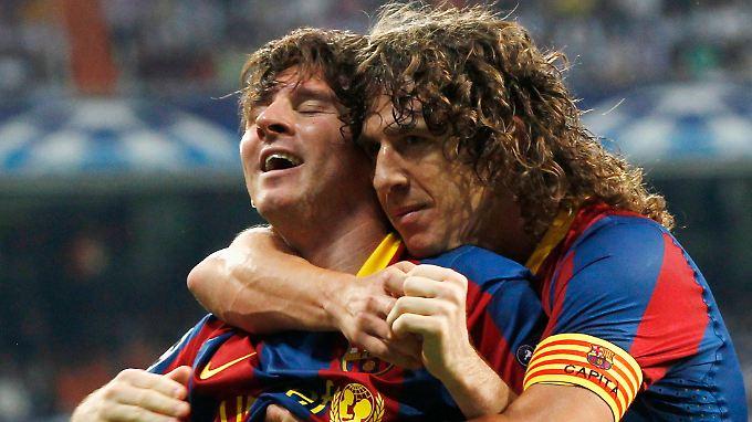 Zwei derzeitige Stars des FC Barcelona: Lionel Messi (l.) und Carles Puyol (r.)