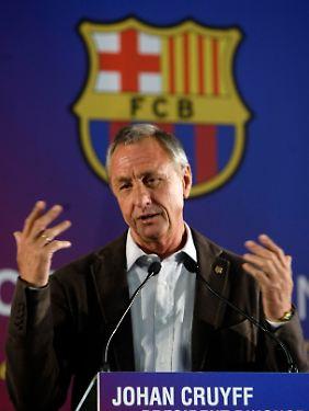 """Johan Cruyff - für immer der """"König von Barca""""."""