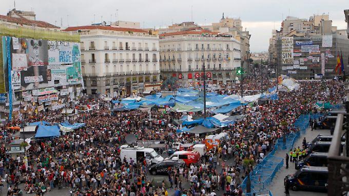 Die spanische Jugend geht seit Tagen auf die Straße.