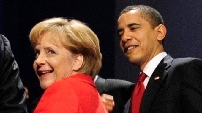 Sinnbild für die wirtschaftliche Entwicklung: Angela Merkel marschiert vorweg: Deutsches-BIP-Plus stellt das der USA in den Schatten. (Archivbild)
