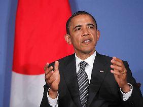 Obama gibt ein schweres Versprechen ab.