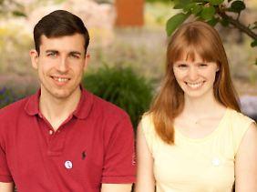 """Die Gründer des """"Journal of unsolved Questions"""": Leonie Mück und Thomas Jagau. Beide promovieren in Theoretischer Chemie an der Johannes Gutenberg-Universität in Mainz."""