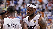 Mitläufer statt Superstar: LeBron James spielte ganz schwache Finals.