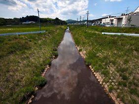 Aus den Gräben soll das Wasser zur Bewässerung der Felder genutzt werden. Messungen wiesen erhöhte Radioaktivität nach.