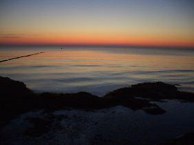 Hiddenseer Sonnenuntergang: Dabei kann man extrem gut entspannen.