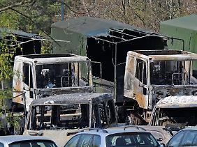 Bei dem Brandanschlag auf dem Gelände der Offiziersschule des Heeres waren vor drei Jahren 42 Fahrzeuge zerstört worden.