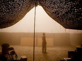 Stützpunkt in der Provinz Wardak: Die Stimmung ist getrübt.