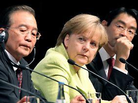 Mit Blick auf die Rechtsstaatlichkeit in China sieht Merkel Nachholbedarf.