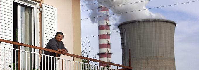 Braunkohlekraftwerk bei Megalopoli auf dem Peleponnes.