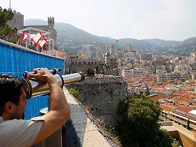Teleskop-Blick auf die Stadt.