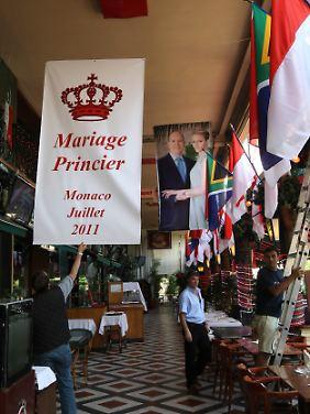 Hochzeitsdekoration in einem Restaurant in Monaco.
