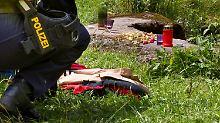 Auch das Gebiet um den Fundort der Leiche wurde durchsucht.