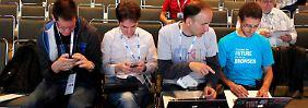 Google-Mitarbeiter bei einer Konferenz in San Francisco.