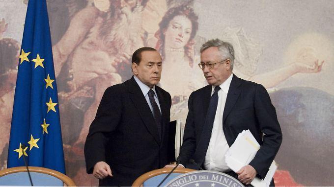 Massives Schuldenproblem: Ministerpräsident Silvio Berlusconi und Finanzminister Giulio Tremonti.