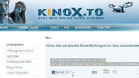 Wenige Wochen nach der Schließung von kino.to war kinoX.to online.