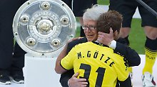 Glückwünsche zum Meistertitel nimmt der BVB nicht mehr entgegen. Erst wieder, falls er die Schale erneut holt.