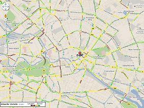Freie Fahrt oder nicht? Auch das zeigt Google Maps.