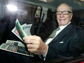 Schlagzeilen in eigener Sache für Rupert Murdoch.