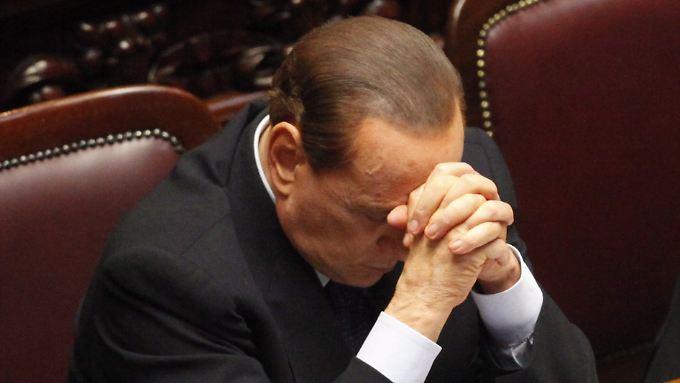 Silvio Berlusconi: Seine Rede vor dem Parlament sorgte nur kurz für Beruhigung.