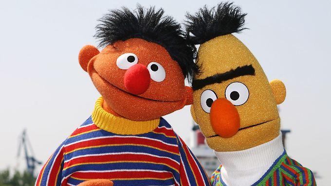 Es steht fest - sie heiraten! Ernie und Bert.