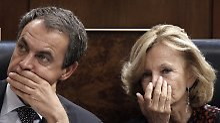 Harte Zeiten: Ministerpräsident Zapatero und seine Wirtschaftsministerin Elena Salgado.