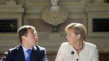 Deutsch-russisches Gipfeltreffen: Harmonie auf Schloss Schleißheim