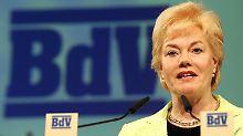 Erika Steinbach, Präsidentin des Bundes der Vertriebenen, setzt sich seit Jahren für eine Entschädigungszahlung ein.