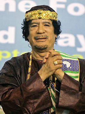 Gaddafi hatte gute Kontakte in alle Welt.