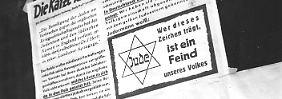 Die Nazis folgten der antisemitischen Logik, nach der die Juden die Täter waren, die nichtjüdischen Deutschen ihre Opfer. Aufnahme aus Berlin, Oktober 1942.