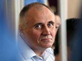 Statkevich bei der Urteilsverkündung Ende Mai.