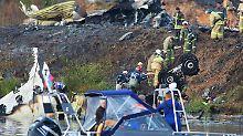 Die Unglücksstelle nahe dem russischen Jaroslawl. 43 Menschen kamen bei dem Flugzeugabsturz ums Leben.